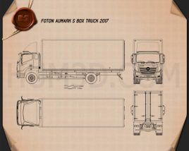 Foton Aumark S Box Truck 2017 Blueprint