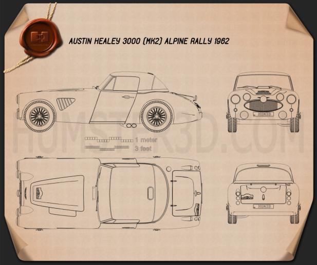 Austin Healey 3000 Alpine Rally 1962 Blueprint
