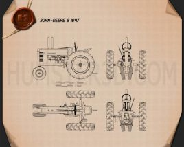John Deere B 1947 Blueprint