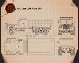 KrAZ 256B Dump Truck 1966 Blueprint