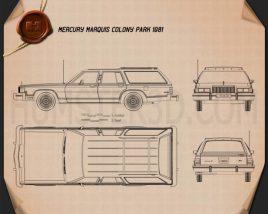 Mercury Marquis Colony Park 1981 Blueprint