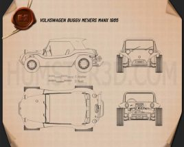 Volkswagen Buggy Meyers Manx 1965 Blueprint