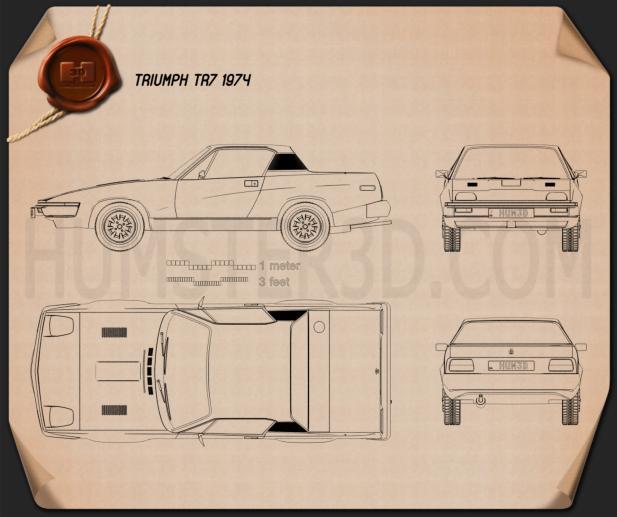 Triumph TR7 1974 Blueprint