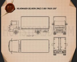 Volkswagen e-Delivery Box Truck 2017 Blueprint