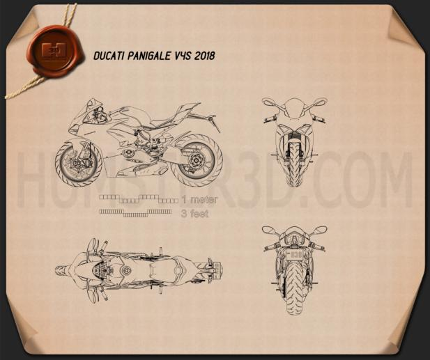 Ducati Panigale V4S 2018 Blueprint