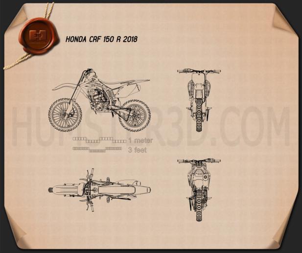Honda CRF150R 2018 Blueprint