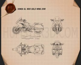 Honda GL 1800 Gold Wing 2018 Blueprint