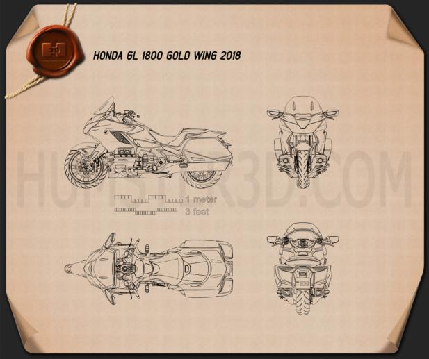 Honda GL 1800 Gold Wing 2018 Blueprint