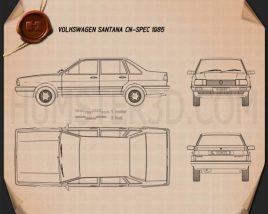 Volkswagen Santana CN-spec 1985 Blueprint