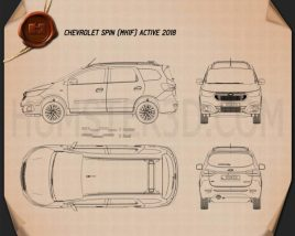 Chevrolet Spin Active 2018 Blueprint