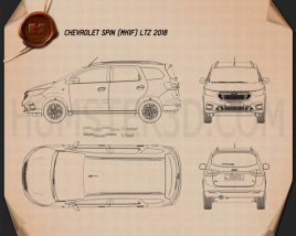 Chevrolet Spin LTZ 2018 Blueprint