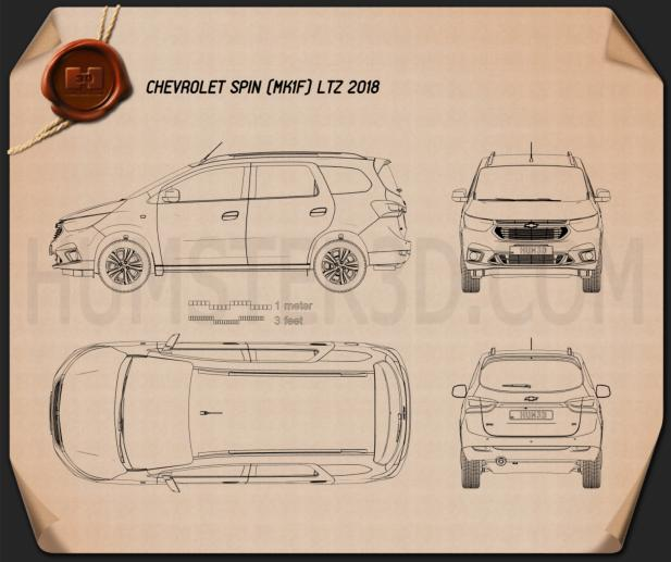 Chevrolet Spin LTZ 2018 Blueprint