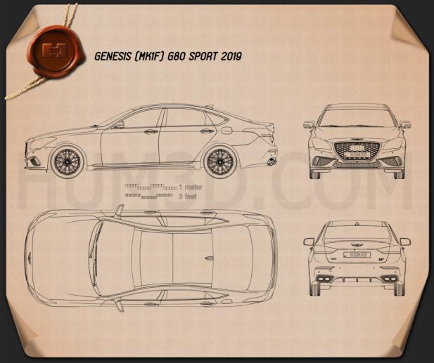 Genesis G80 Sport 2019 Blueprint