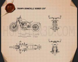 Triumph Bonneville Bobber 2017 Blueprint