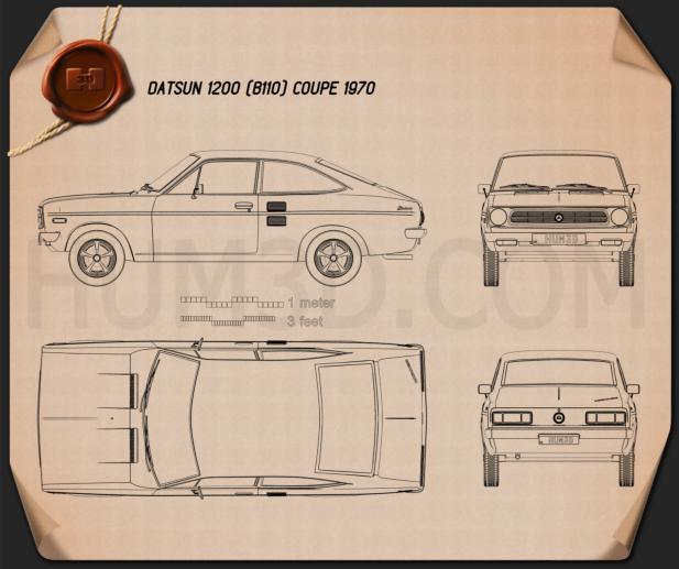 Datsun 1200 coupe 1970 Blueprint