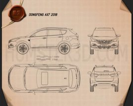 DongFeng AX7 2018 Blueprint