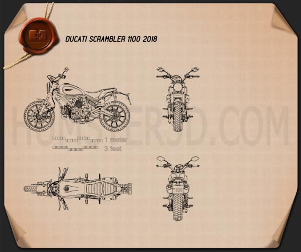 Ducati Scrambler 1100 2018 Blueprint