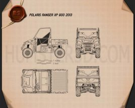 Polaris Ranger XP 900 2013 Blueprint