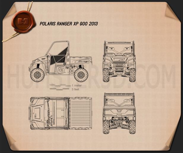 Polaris Ranger XP 900 2013 Blueprint