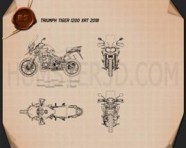Triumph Tiger 1200 XrT 2018 Blueprint