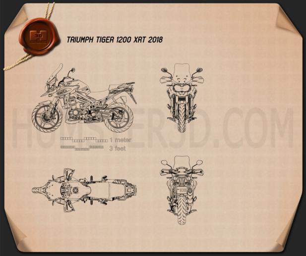 Triumph Tiger 1200 XrT 2018 Blueprint