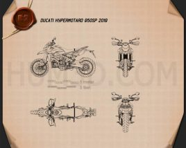 Ducati Hypermotard 950SP 2019 Blueprint