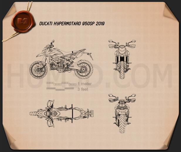 Ducati Hypermotard 950SP 2019 Blueprint