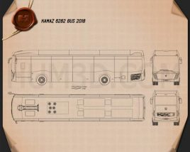 KamAZ 6282 Bus 2018 Blueprint