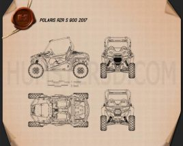 Polaris RZR S 900 2017 Blueprint