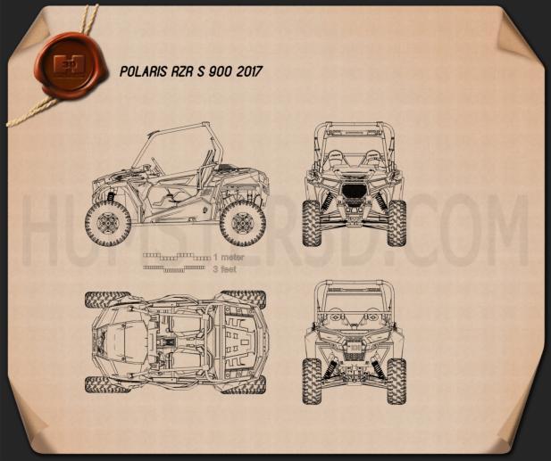 Polaris RZR S 900 2017 Blueprint