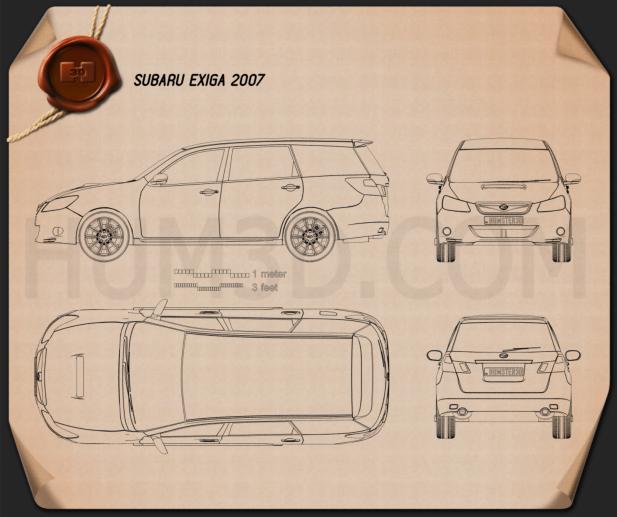 Subaru Exiga 2008 Blueprint