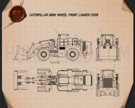 Caterpillar 988H Wheel Front Loader 2008 Blueprint