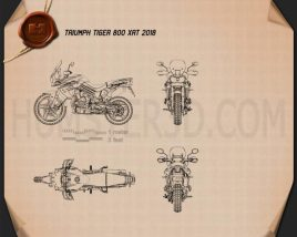 Triumph Tiger 800 XRt 2018 Blueprint