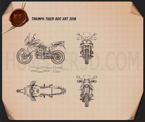 Triumph Tiger 800 XRt 2018 Blueprint