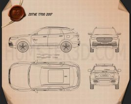 Zotye T700 2017 Blueprint