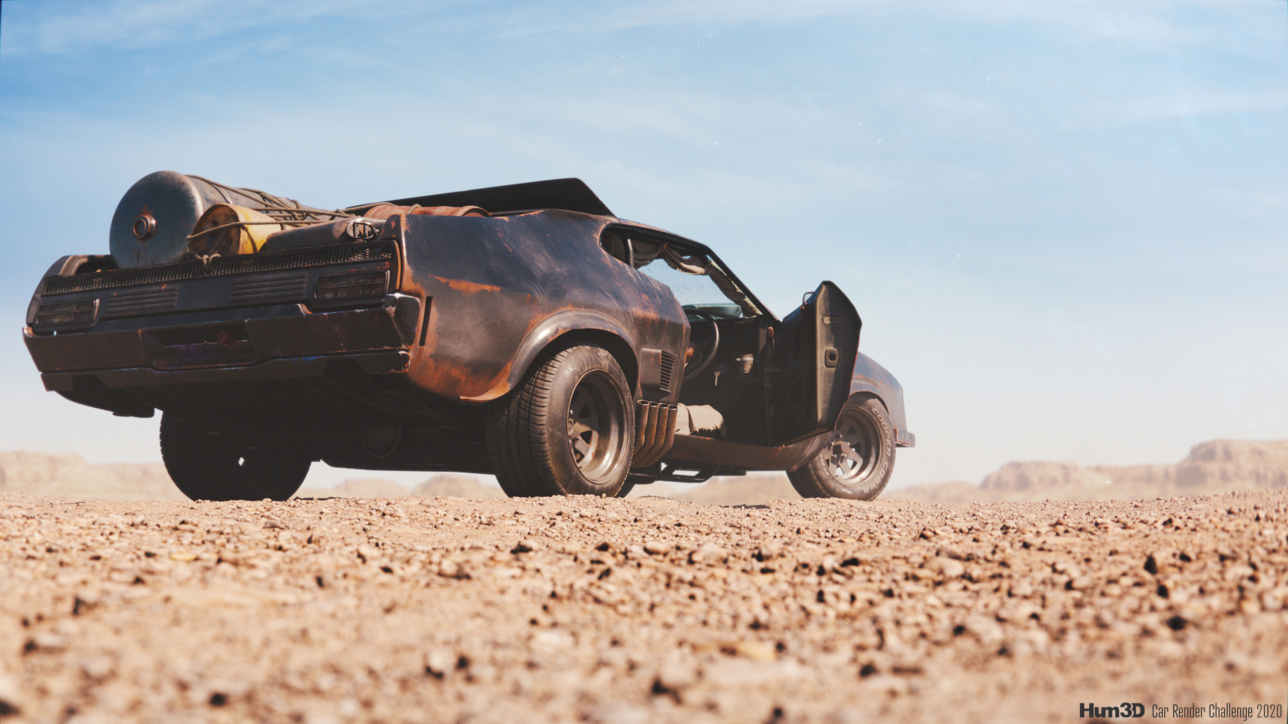 Ford Falcon XB GT - tribute to Mad Max 3d art