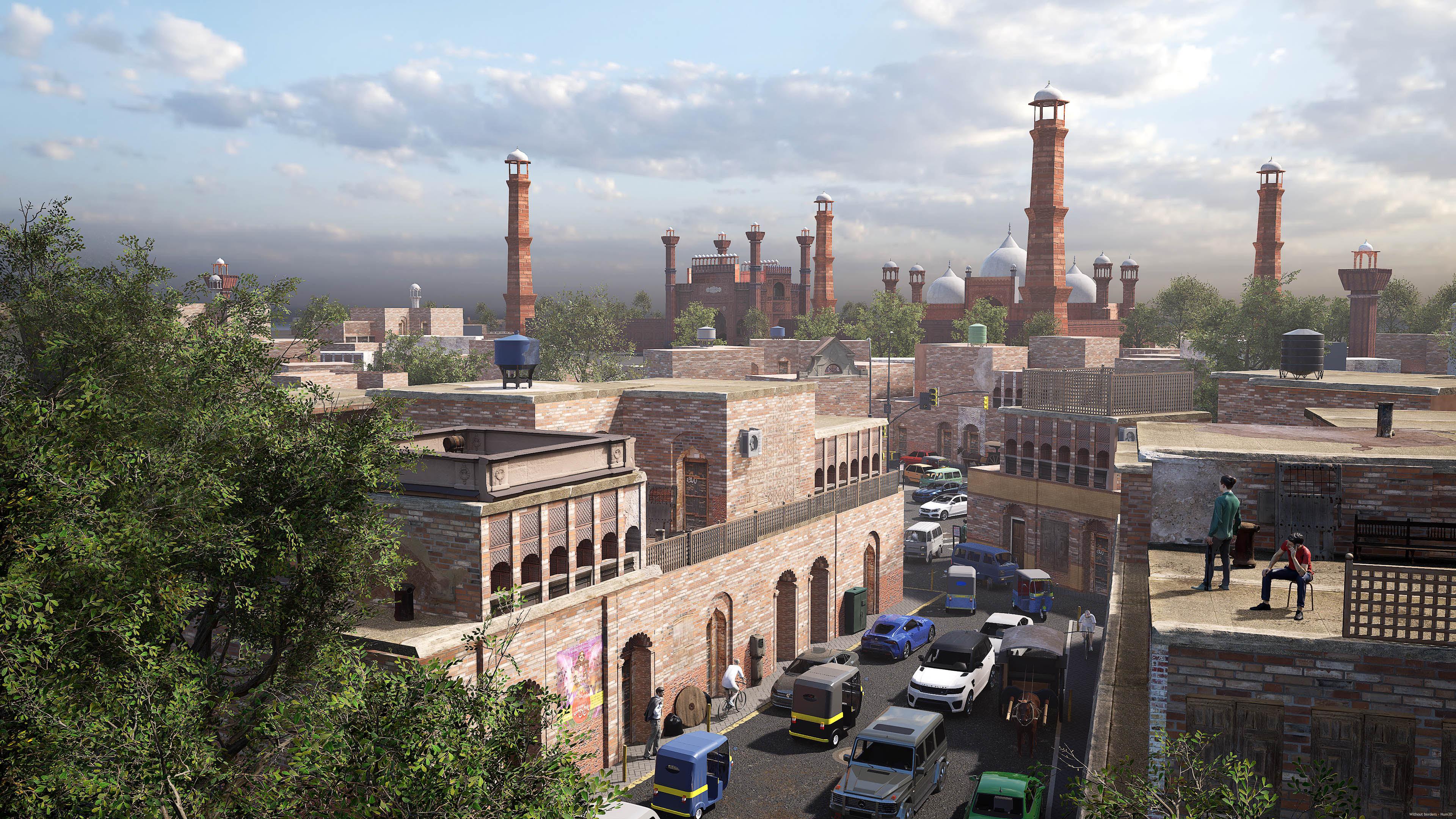 The Badshahi Mosque 3d art