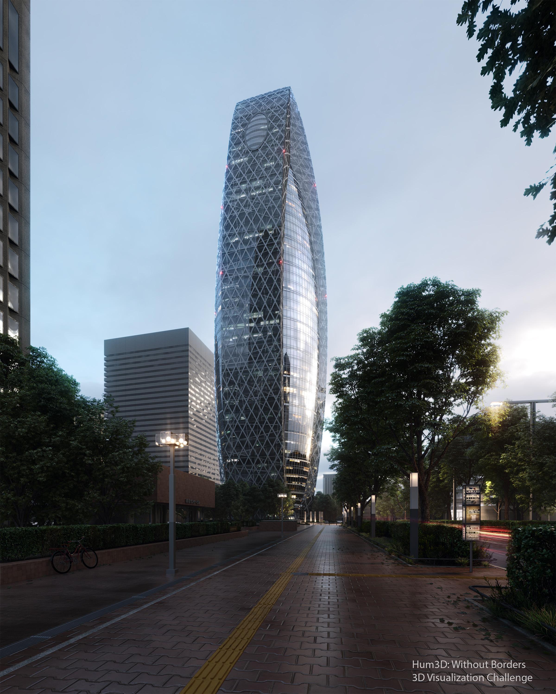 Mode Gakuen Cocoon Tower - Tokyo 3d art