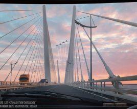 Bridge over the Golden Horn Bay. Vladivostok, Russia