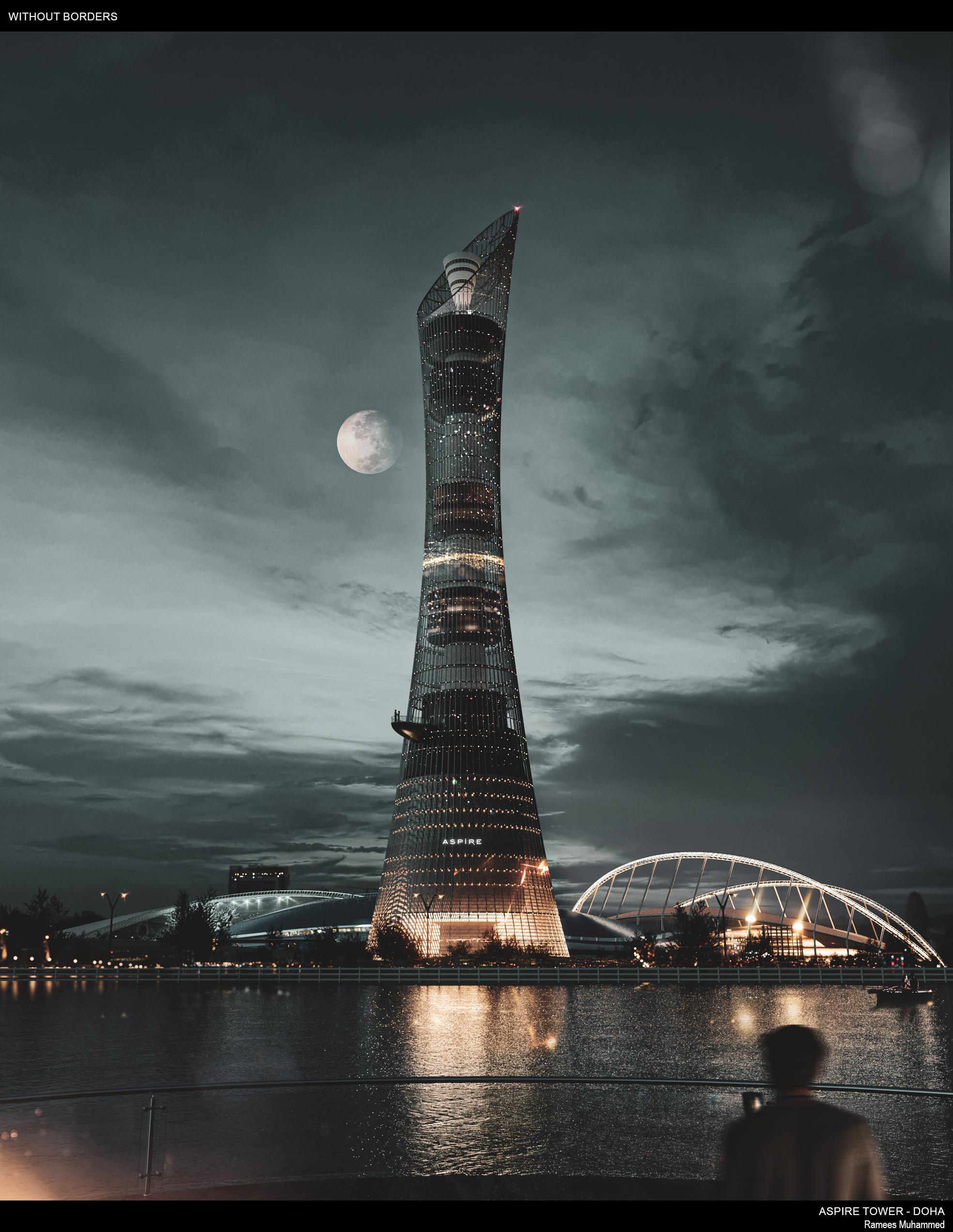 Aspire Tower - Doha, Qatar 3d art