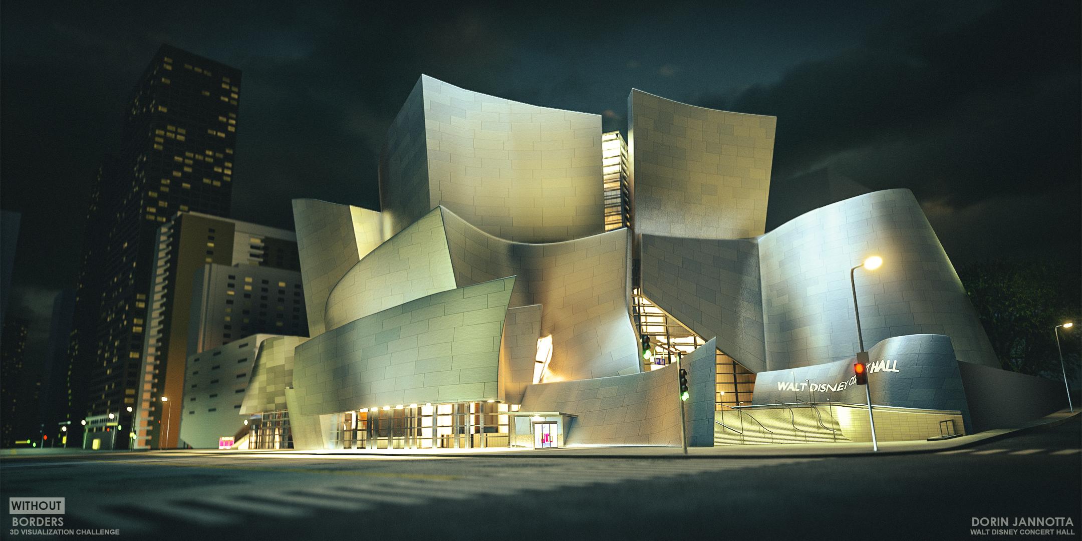 Walt Disney Concert Hall 3d art
