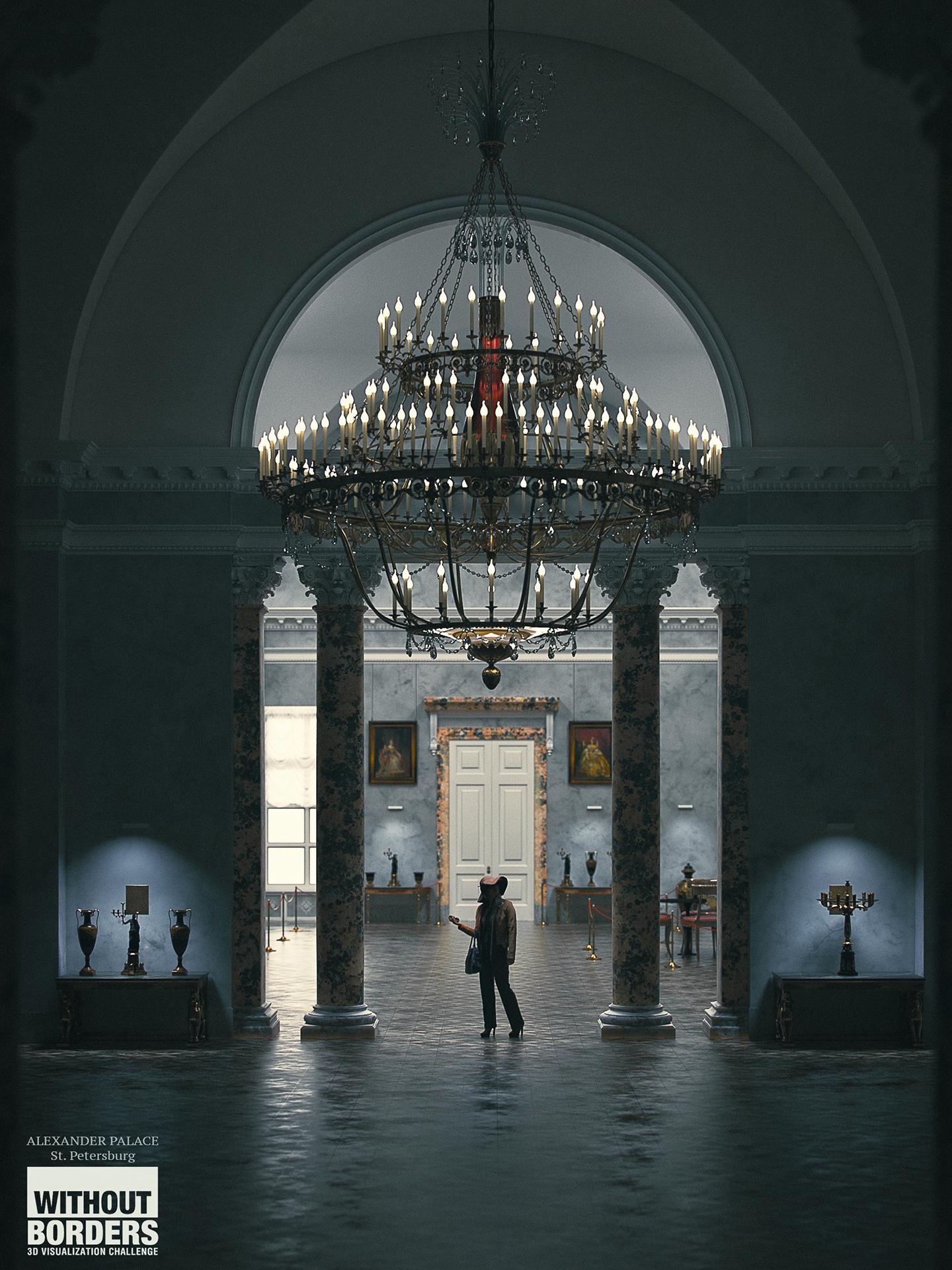 Alexander Palace 3d art