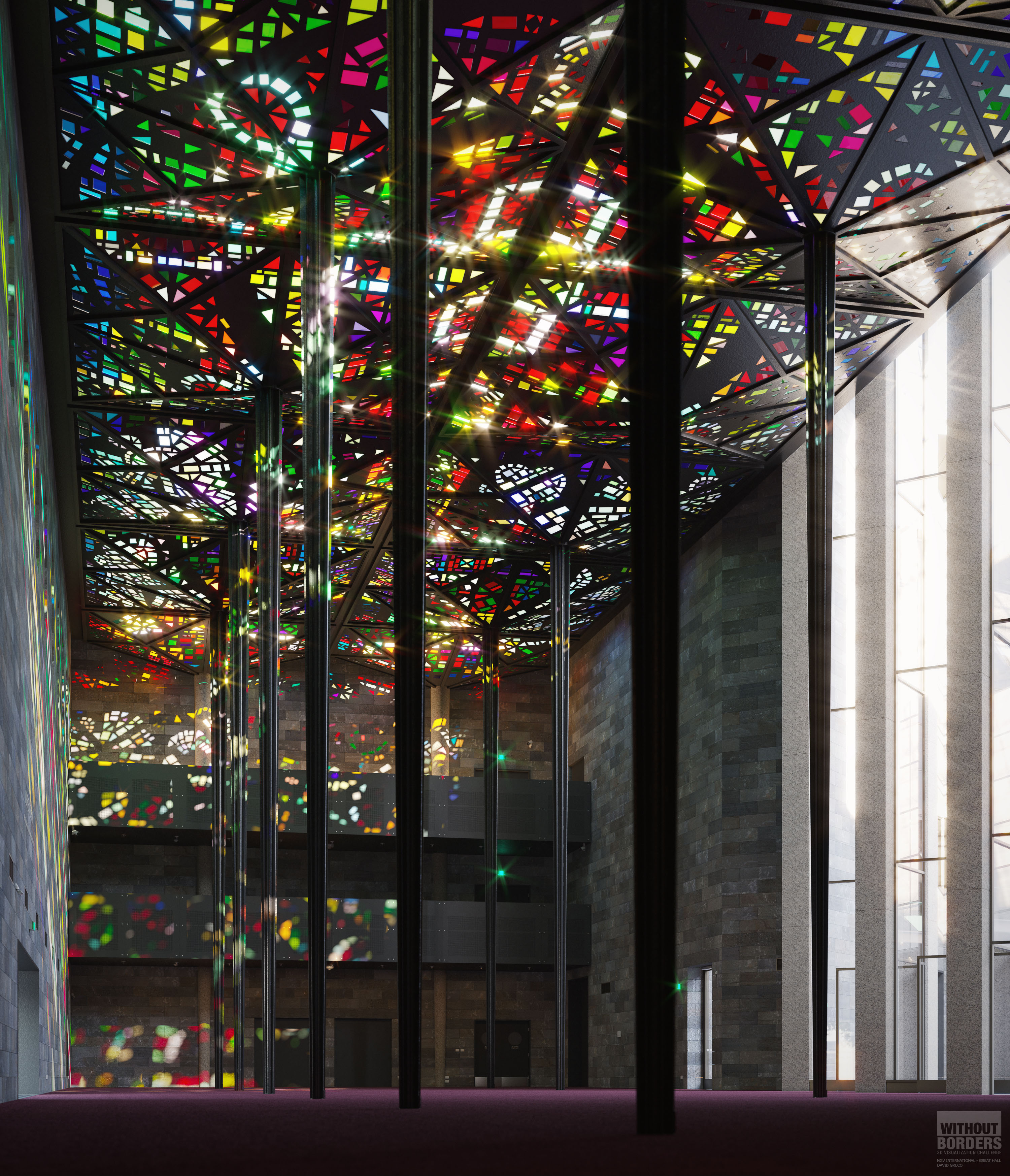 NGV International - Great Hall 3d art
