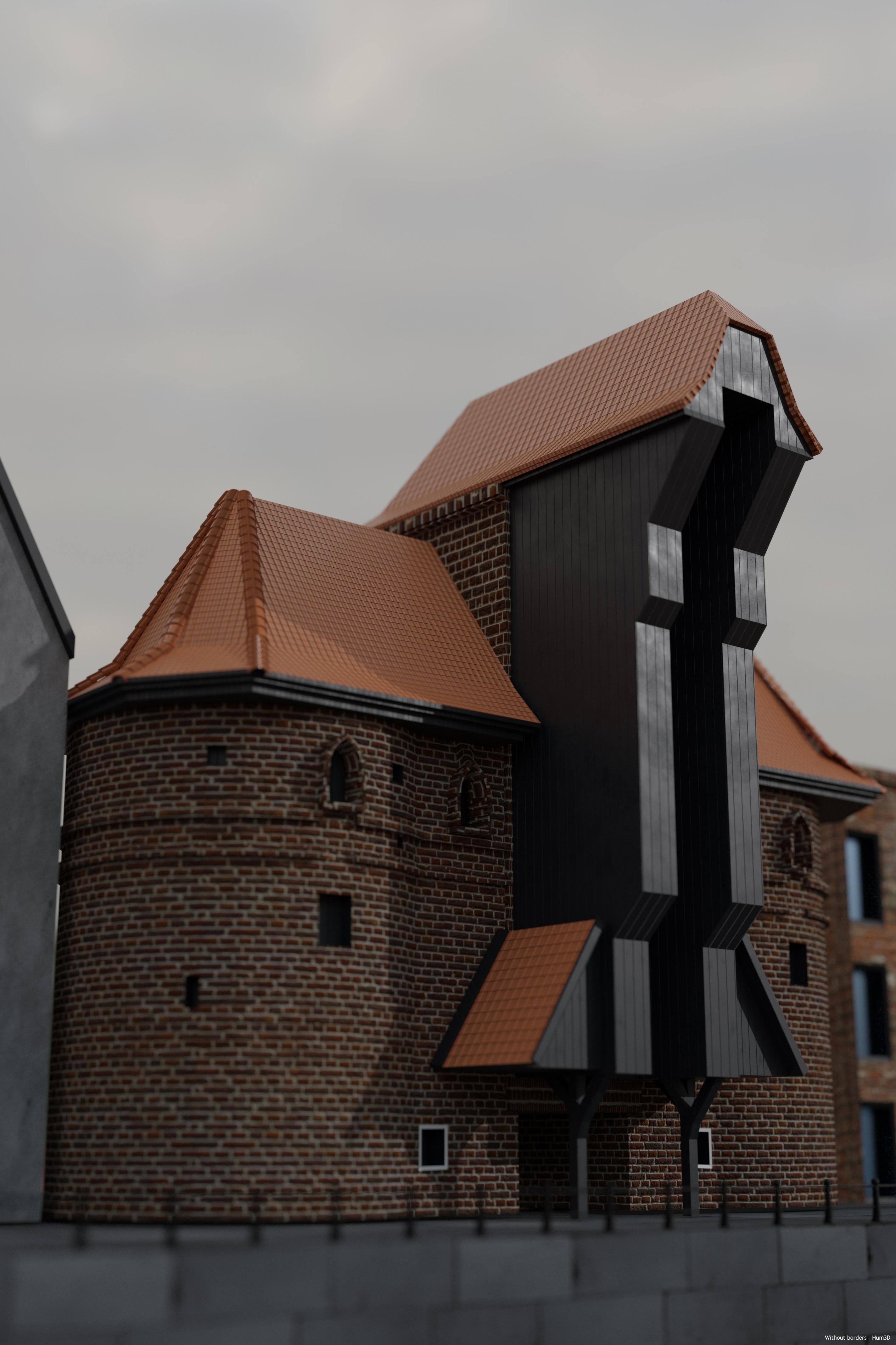 Gdansk Medieval Crane 3d art