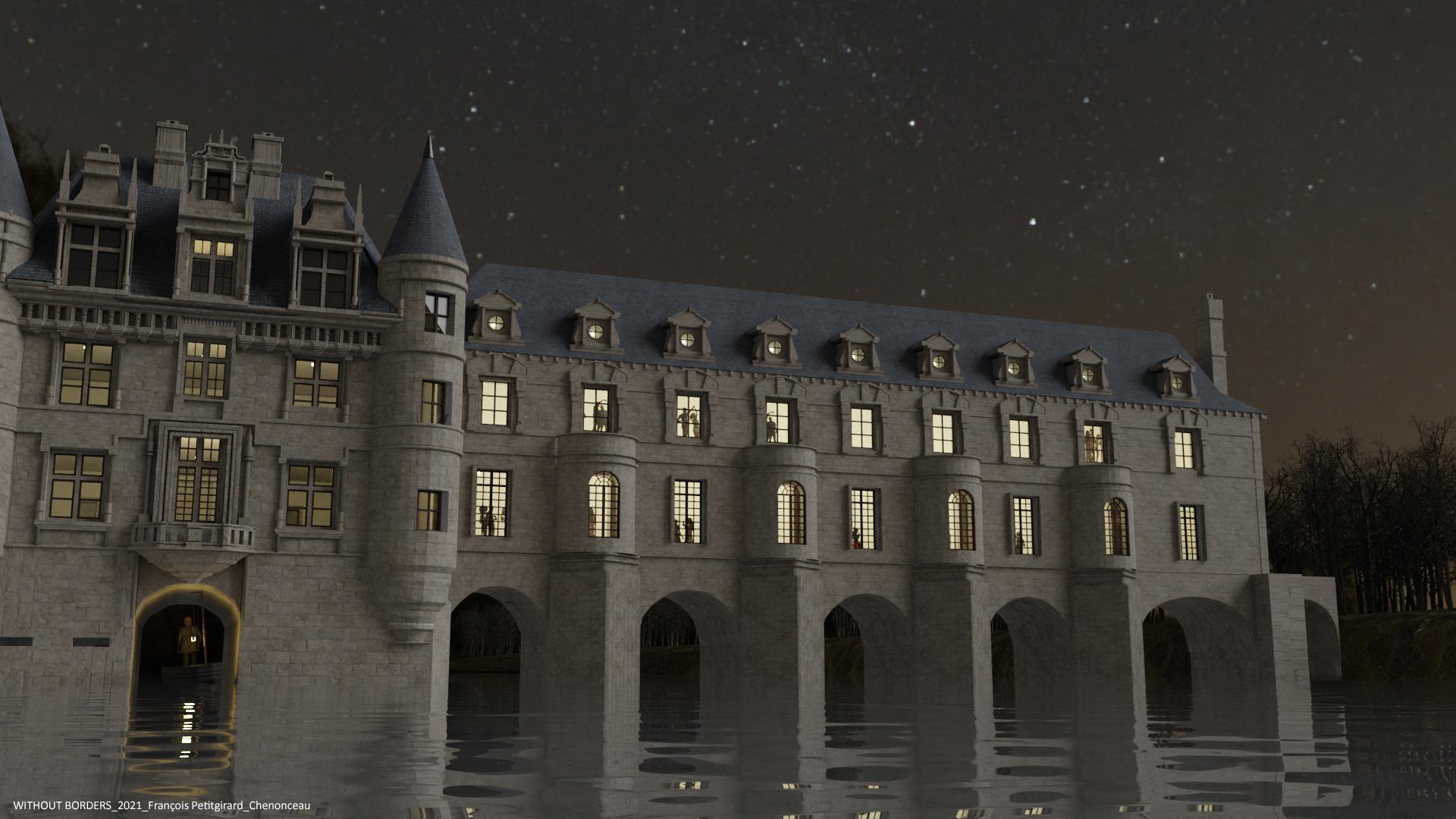 Le château de Chenonceau 3d art