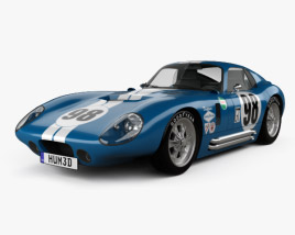 3D model of Shelby Cobra Daytona 1964