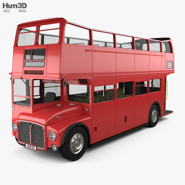 3D model of AEC Routemaster RMC 1954