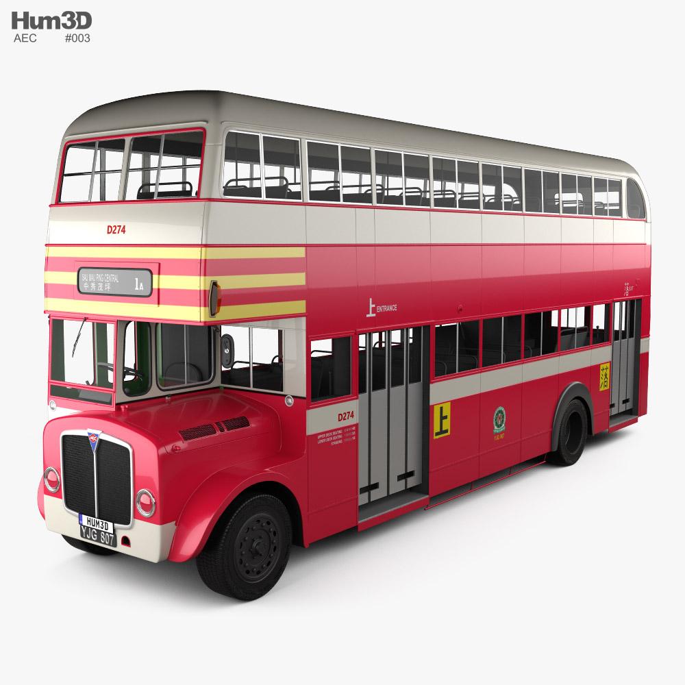 AEC Regent DobleDecker Bus 1952 3D model