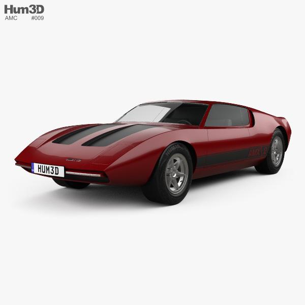 AMC AMX 2 1969 3D model
