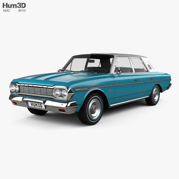 3D model of AMC Rambler Classic 770 4-door sedan 1964